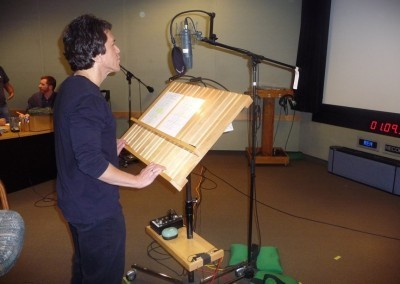 Recording for The Simpsons