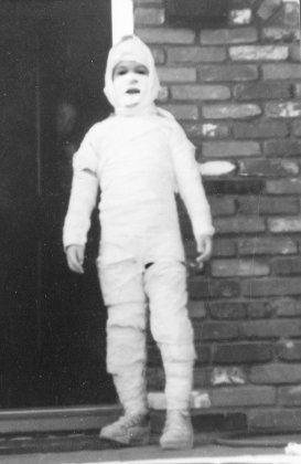 Halloween as a mummy