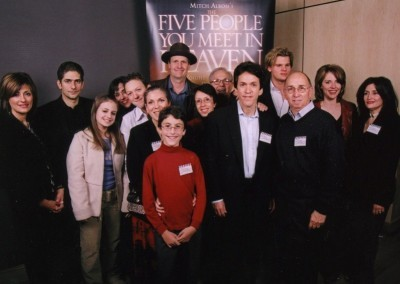 Mitch and his family at a movie premiere in 2005