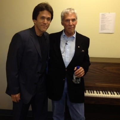 with Burt Bacharach