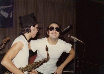 "Dave ""Dork"" Jaspan, Howard""Rico ""Hait at gig in 1974"
