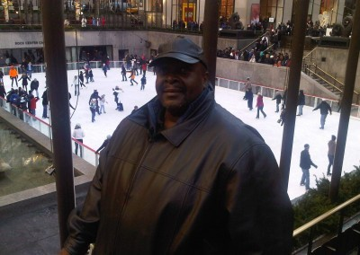 Henry Covington on his last day in NYC. He passed away in December 2010.