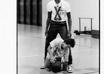 with Detroit Piston John Salley (Aug 9 1989)