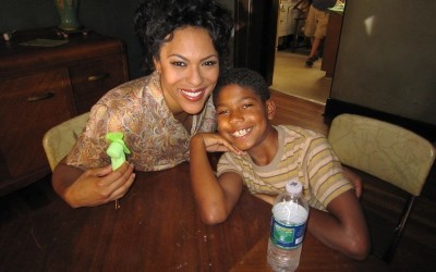 Young Henry and his TV mom