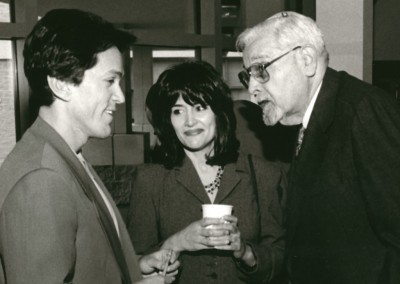 Mitch and Janine Albom with Rabbi Lewis