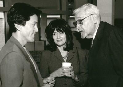 Mitch and Janine Albom with Rabbi Lewis