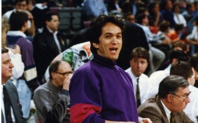at a Piston's game in the early 1990s