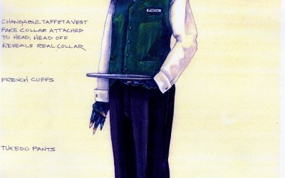 Duck Hunter Shoots Angel Costume Sketches