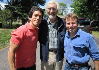 Mitch, Martin Landau and David Black