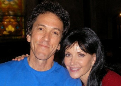 Mitch and his TV wife Melinda McGraw