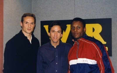with Steve Yzerman and Barry Sanders