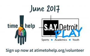 Time to Help Volunteer Project @ S.A.Y. Detroit Play Center | Detroit | Michigan | United States