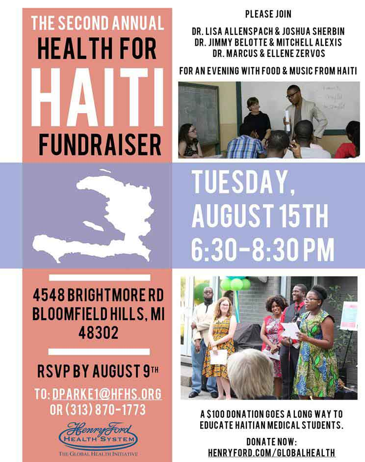 2nd Annual Health for Haiti Fundraiser @ Bloomfield Hills | Michigan | United States