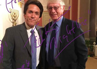 Mitch Albom and Ted Koppel in conversation at Sixth & I Synagogue on July 25, 2017
