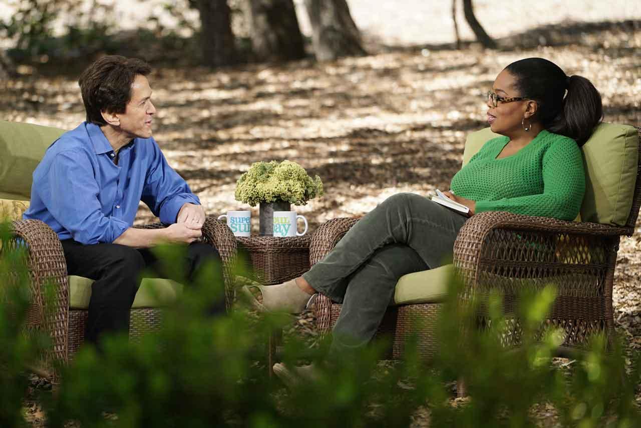 Mitch Albom and Oprah Winfrey in conversation on SuperSoul Sunday 8.27.17