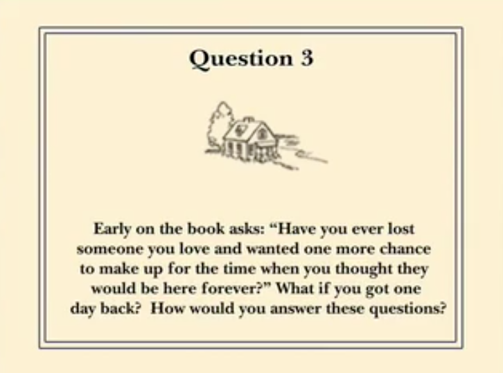 For One More Day Reading Group Guide Question 3