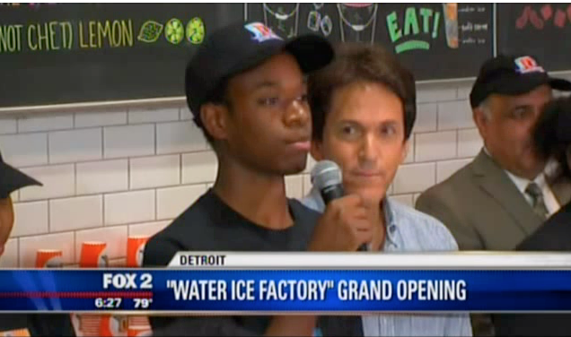 Fox2- Detroit Water Ice Factory Opens new