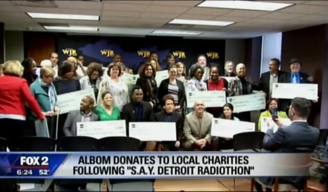 Fox 2 News: S.A.Y. Detroit Radiothon 2015 Fund Distribution