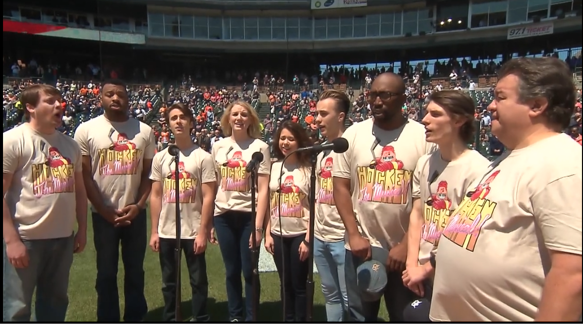 Hockey - The Musical! Cast Sings National Anthem
