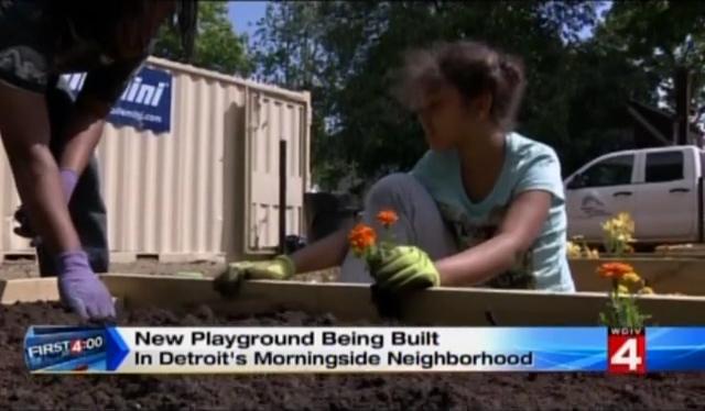 Local 4 News: New Playground in Detroit's Morningside Neighborhood