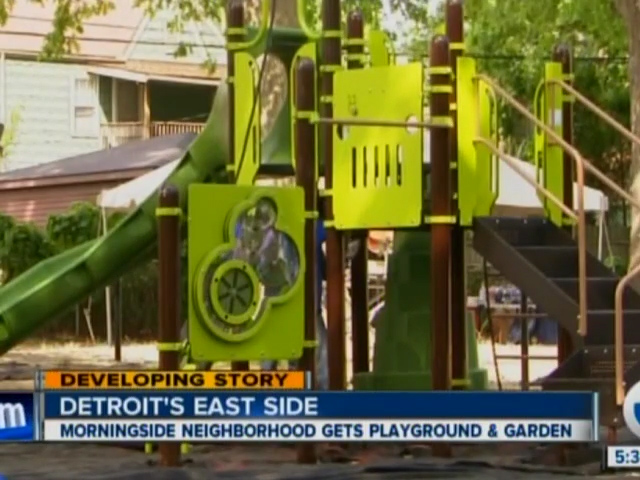Channel 7: Morningside Neighborhood Gets Playground & Garden