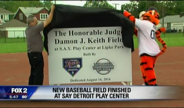 Fox 2: Baseball Field Finished at S.A.Y. Play Detroit