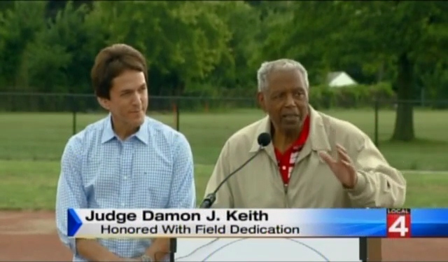 Local 4: Judge Damon Keith Honored with Field Dedication