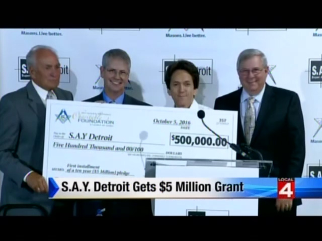 Local 4: S.A.Y. Detroit Gets $5 Million Grant