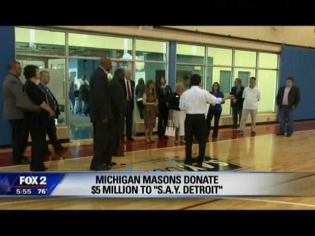 Fox 2: Michigan Masons Donate $5 Million to S.A.Y. Detroit