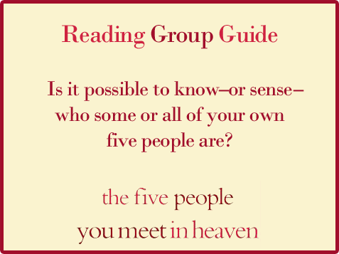 Five People Reading Group Guide Question 4