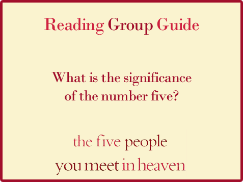 Five People Reading Group Guide Question 6