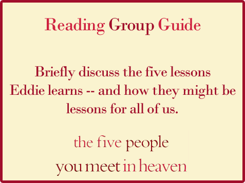 Five People Reading Group Guide Question 7