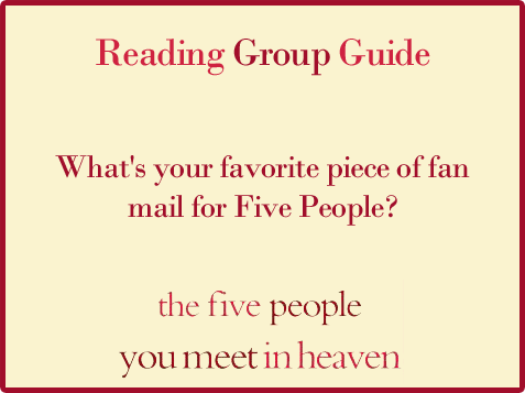 Five People Reading Group Guide Question 8
