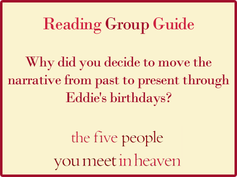 Five People Reading Group Guide Question 9