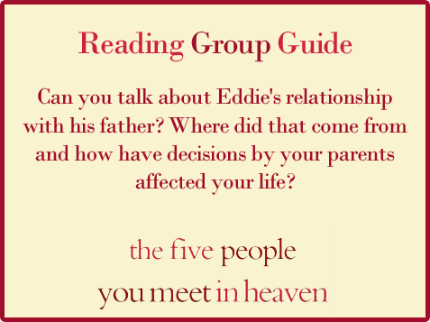 Five People Reading Group Guide Question 10