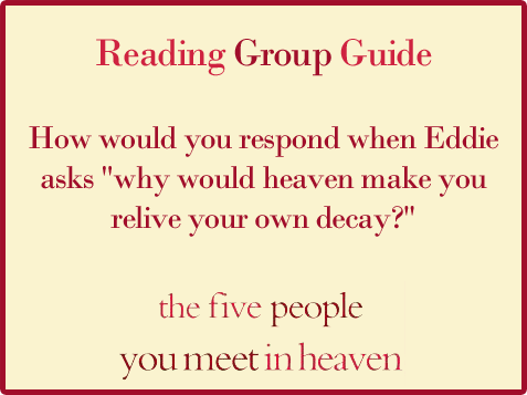 Five People Reading Group Guide Question 11