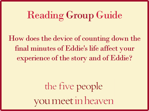 Five People Reading Group Guide Question 12
