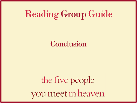 Five People Reading Group Guide Conclusion